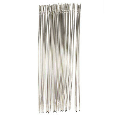 25 Pcs 1.6mm Dia Sharp Tip Metal Quilting Tailor Sewing Needles 15cm Long L8K7