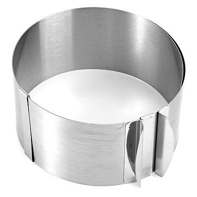 Retractable Stainless Steel Circle Mousse Ring Cake Baking Tool Set Size Sh PF