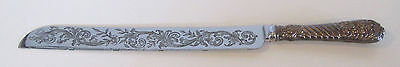 Wedding Cake Knife Stainless Steel with Sterling Silver Handle Sheffield England