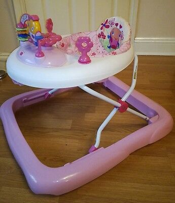 Bright starts june berry delight walk-a-bout walker walkabout baby activity pink