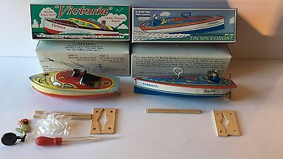 VTG Collector Series Schylling FIREBALL and Victoria Tin Speedboats