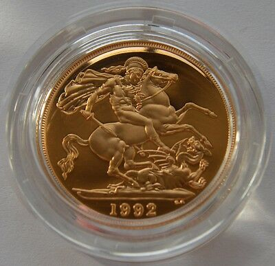 1992 Gold Proof Double Sovereign