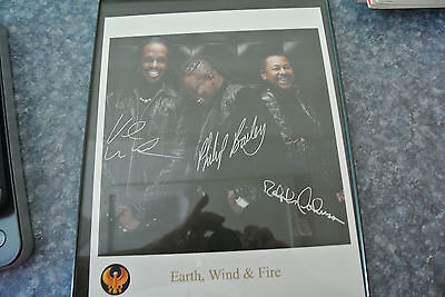 Earth Wind & Fire  AUTOGRAPHED reprint Photograph in Frame