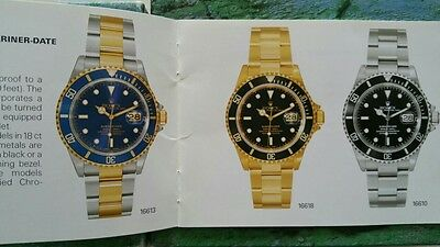Rolex box   booklet submariner 16613 16618 16610 14060 m 16600 2002 100% eng