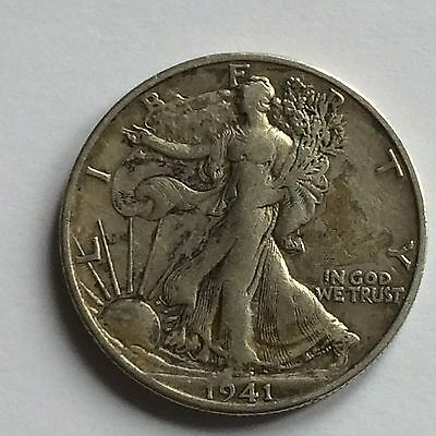 1941 Walking Liberty Half Dollar; USA; .900 Silver - ONE DAY AUCTION