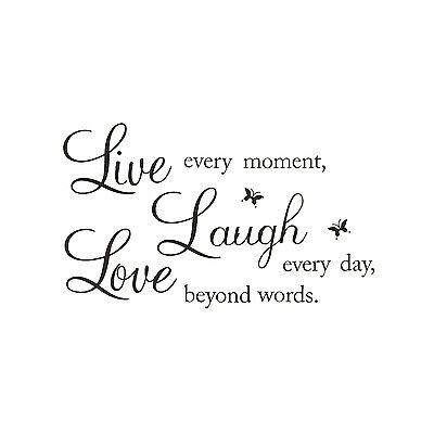 """LIVE LAUGH LOVE"""" Wall Quote Stickers Removable Vinyl Decal Home Art Decorat PF"""