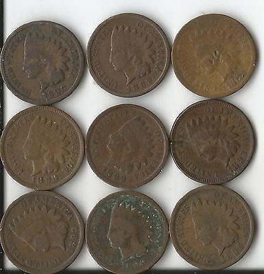 United States Indian Penny's 1889-1899