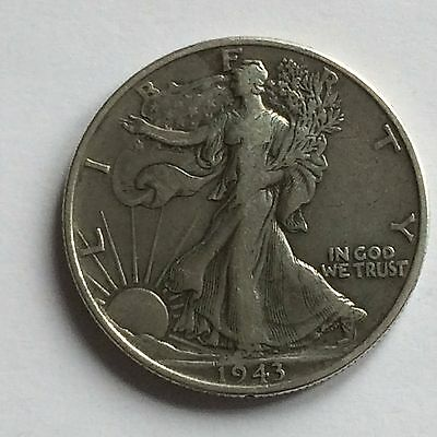 1943 Walking Liberty Half Dollar; USA; .900 Silver - ONE DAY AUCTION