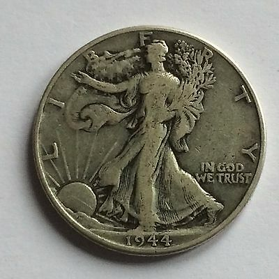 1944 Walking Liberty Half Dollar; USA; .900 Silver - ONE DAY AUCTION