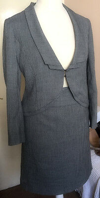 Minuet Petite - Black & White Suit - Skirt & Jacket - Size 16/18 - Immaculate