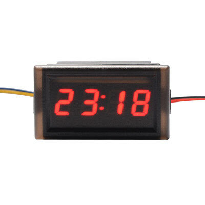 4-Digit 0.4inch Car Onboard Electronic Clock Time Red LED Display Panel MA1223