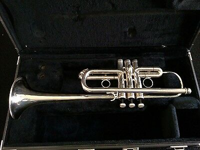 Very Nice Antoine Courtois Evolution IV Silver Plated C Trumpet with Hard Case