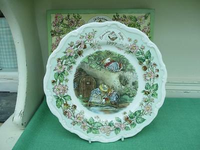 Royal Doulton BRAMBLY HEDGE 1997 Plate 1st Quality with box