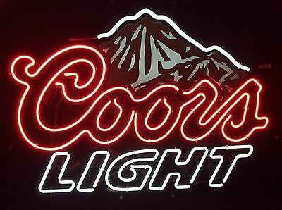 """New Coors Light  Mountain Beer Neon Sign 20""""x16"""""""