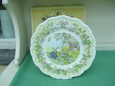 Royal Doulton BRAMBLY HEDGE 1996 Plate 1st Quality with box