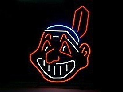 "New Cleveland Indians MLB Neon Sign 20""x16"""