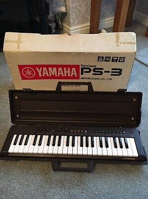 Vintage Retro Boxed Yamaha Portasound PS-3 Electronic Keyboard & Case