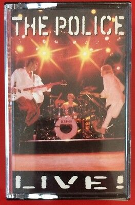 The Police Live! Double Cassette Tape Sting Live