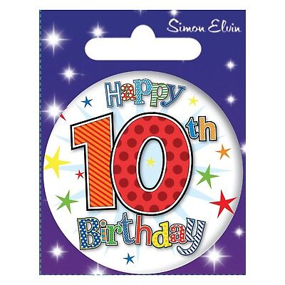 10th BIRTHDAY BADGE SMALL BIRTHDAY BADGE AGE 10 BOY BIRTHDAY PARTY GIFT