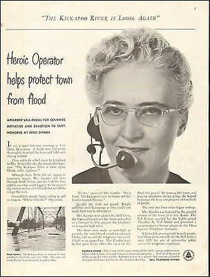 1952 Vintage ad for Bell Telephone System`The Kickapoo River Photo   (073116)