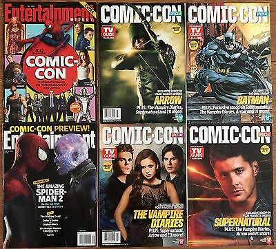 San Diego Comic Con 2013 - TV Guide & Entertainment Weekly Magazine Set