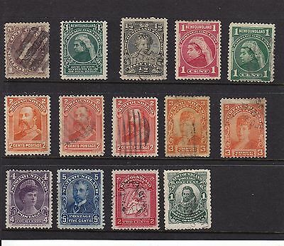 Canada - Newfoundland old stamps - mint and used