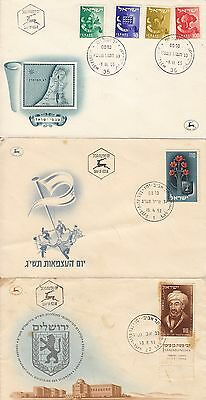 Israel - 20 First Day Covers - 1950's