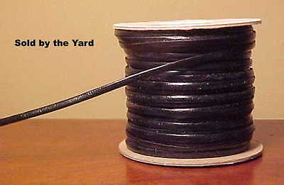 Retired TANDY Black Kangaroo Leather Lacing in 1/8 Inch Width - SOLD BY THE YARD