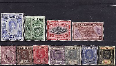 South Pacific selection of old stamps - mint and used
