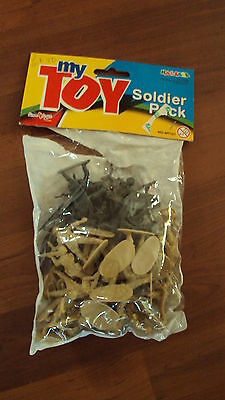Pack of Plastic Toy Soldiers