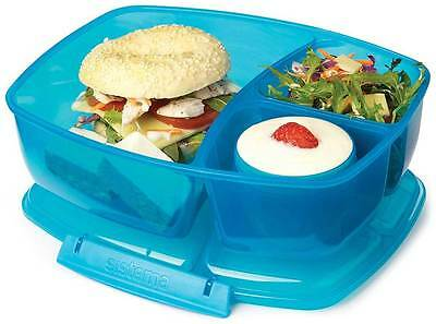 SISTEMA Lunchbox + Becher Brotzeitbox Triple Split Snackbox Brotbox 3 fach 2 L