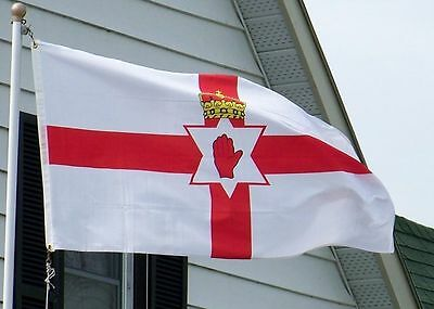 Red Hand of Ulster Flag 5ft by 3ft - New in package - Free P&P