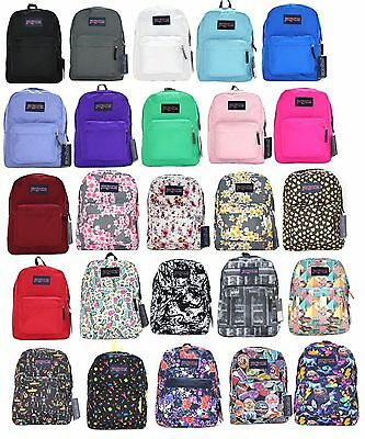 JanSport SuperBreak Backpack Black Blue Red Green Purple Whtie Pink Galaxy