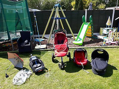 Quinny Buzz 3 travel system with Pram, Pushchair, Maxi cosi & isofix base