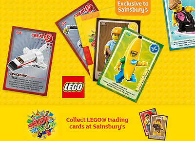 LEGO Create The World OFFICIAL SAINSBURY'S Cards - Choose Your Missing Card