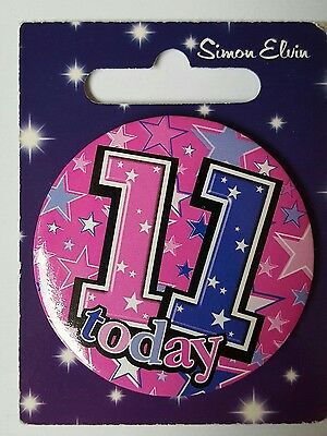 11th BIRTHDAY BADGE