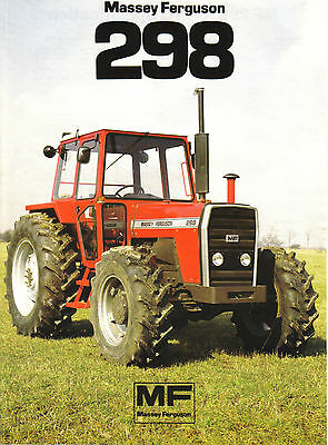 Massey Ferguson 298 Tractor Brochure. Very Good Condition.