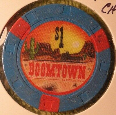 Boomtown Casino $1 poker chip closed 1997 Las Vegas