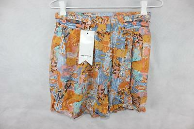 KEN DONE Retro 80s HIGH WAIST CULOTTE SHORTS Sz 8 / XS New $129 Coachella RAD