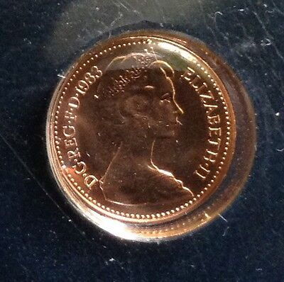 1983 1/2 pence, from set, high quality finish, graded higher than BU