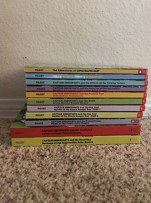 The Adventures of Captain Underpants Lot of Hardcover Books by Dav Pilkey