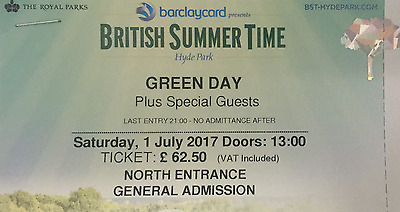 OFFERS!! Green Day Hyde Park Ticket, British Summertime