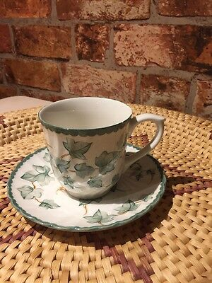 BHS Country Vine Pattern Pottery Collection Tea Cup & Saucer