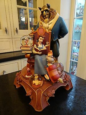 DISNEY LARGE AND RARE BEAUTY AND BEAST SNOW GLOBE (Read description)