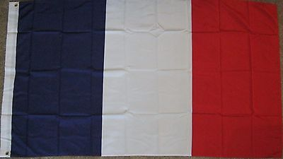 New 3' by 5' France Flag. Free Shipping in Canada!