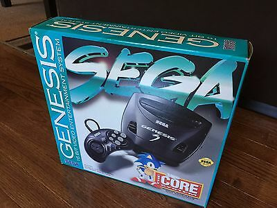 Sega Genesis 3 Console - The Core System - Brand New Sealed, MINT + Games