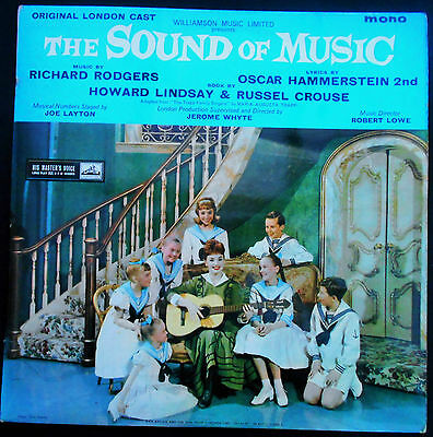 The Sound of Music Rodgers & Hammerstein Musical Vinyl LP His Masters Voice 1453