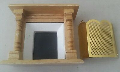 dolls house fireplace - dolls house fire place wooden