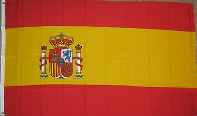 New 3' by 5' Spain Flag. Free Shipping in Canada!