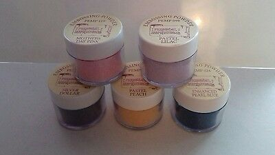 Personal Impressions embossing powders x 5 . All unused